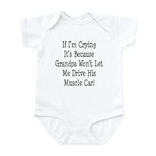 Drive Grandpas Muscle Car Infant Bodysuit