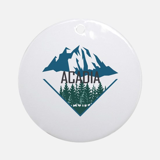 Cute Acadian Round Ornament