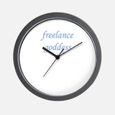 Freelance Goddess Wall Clock