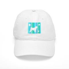Mod Stripes Pug Baseball Cap