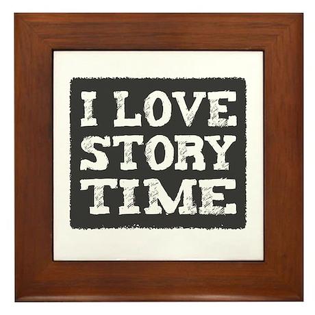 I Love Story Time Framed Tile
