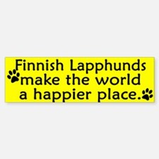 Happy Place Finnish Lapphund Bumper Bumper Bumper Sticker