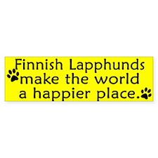 Happy Place Finnish Lapphund Bumper Bumper Sticker