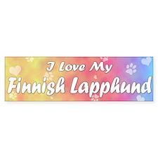 Pastel Love Finnish Lapphund Bumper Bumper Sticker