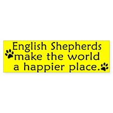 Happy Place English Shepherd Bumper Bumper Sticker