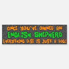 Just a Dog English Shepherd Bumper Car Car Sticker