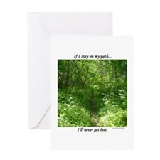 Staying On My Path Greeting Card