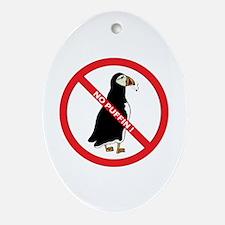 No Puffin Oval Ornament
