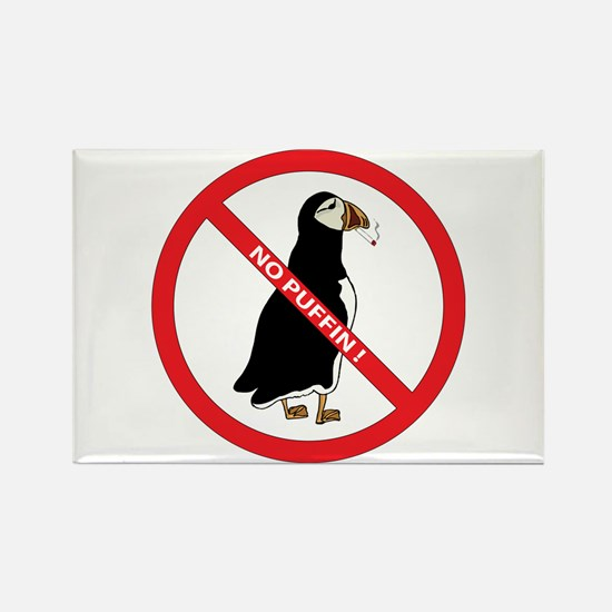 No Puffin Rectangle Magnet