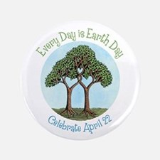 "Celebrate Earth Day 3.5"" Button"