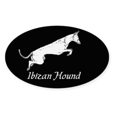 Ibizan Hound Oval Sticker