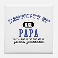 Property of Papa Tile Coaster