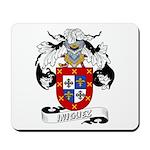 Iniguez Family Crest Mousepad