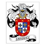 Iniguez Family Crest Small Poster