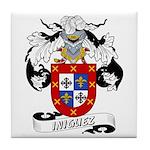 Iniguez Family Crest Tile Coaster
