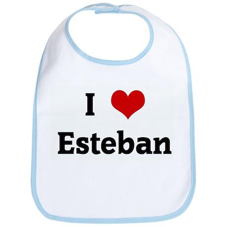I Love Esteban Bib