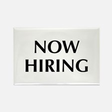 Now Hiring Rectangle Magnet