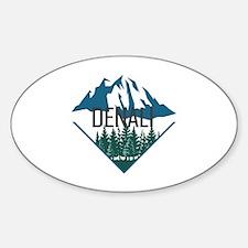 Cute Denali national park Sticker (Oval)