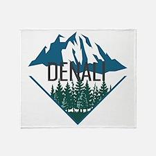 Unique Denali national park Throw Blanket
