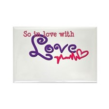 In love with love Rectangle Magnet