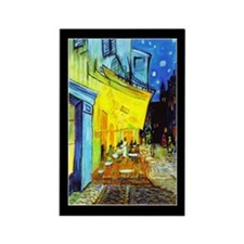 Van Gogh Cafe Terrace At Night Rectangle Magnet