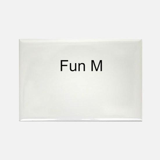 Fun M Rectangle Magnet