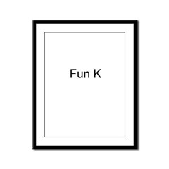 Fun K Framed Panel Print