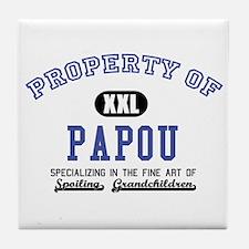 Property of Papou Tile Coaster
