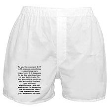Funny Aldous huxley quote Boxer Shorts