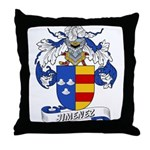Jiminez Family Crest Throw Pillow