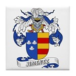 Jiminez Family Crest Tile Coaster