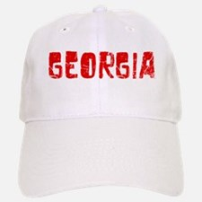 Georgia Faded (Red) Baseball Baseball Cap