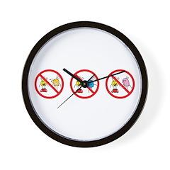 No Ogling Wall Clock