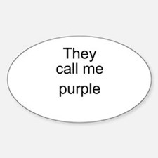 Purple Oval Decal