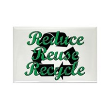 Reduce, Reuse, Recycle Rectangle Magnet