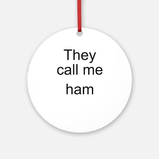 Ham Ornament (Round)