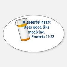 Cheerful Heart (2) Oval Decal