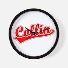 Retro Collin (Red) Wall Clock