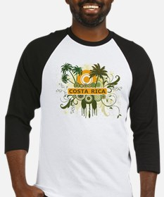 Palm Tree Costa Rica Baseball Jersey
