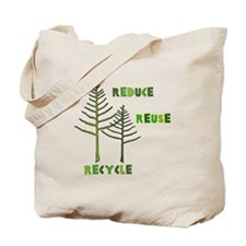 Reduce Reuse Recycle Tree Canvas Tote Bag