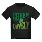 Earth Day : Green & Lovely Kids Dark T-Shirt