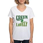 Earth Day : Green & Lovely Women's V-Neck T-Shirt
