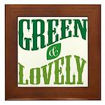 Earth Day : Green & Lovely Framed Tile