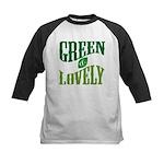 Earth Day : Green & Lovely Kids Baseball Jersey