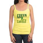 Earth Day : Green & Lovely Jr. Spaghetti Tank