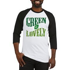 Earth Day : Green & Lovely Baseball Jersey