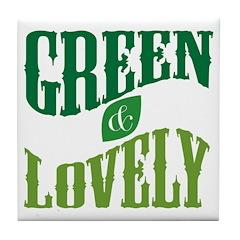 Earth Day : Green & Lovely Tile Coaster