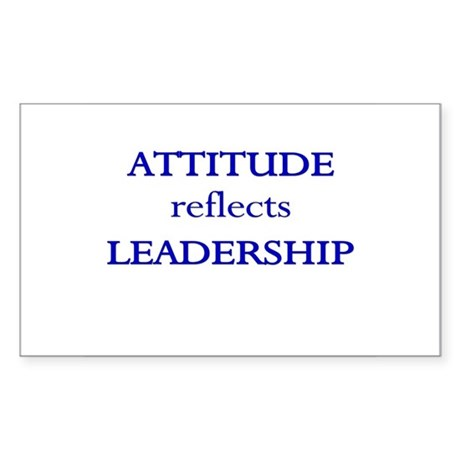 Leadership Attitude Gear Rectangle Sticker