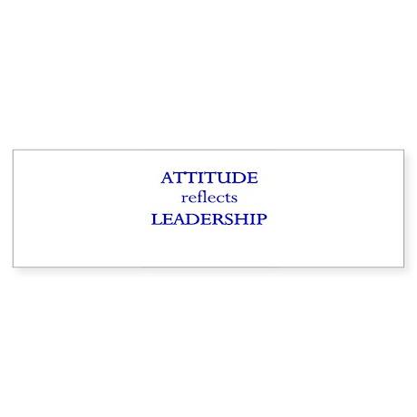 Leadership Attitude Gear Bumper Sticker