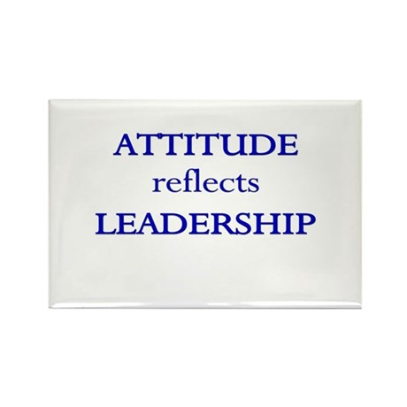 Leadership Attitude Gear Rectangle Magnet (100 pac